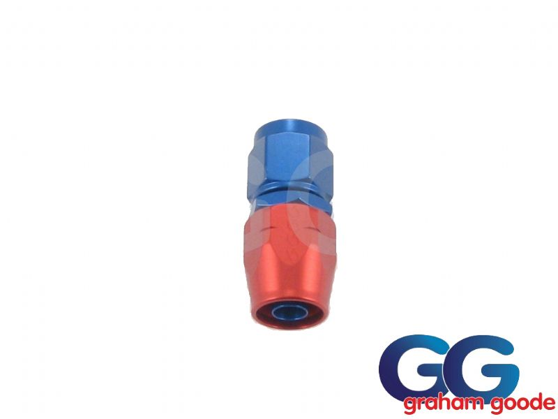 Goodridge 200 Series Dash 6JIC 200.6 Fuel Hose Fitting Straight Blue/Red Anodised 236-0106